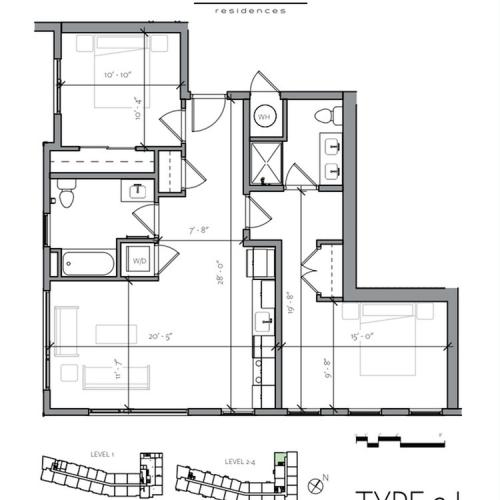 Floor Plan 11 | Portsmouth NH Luxury Apartments | Veridian Residences
