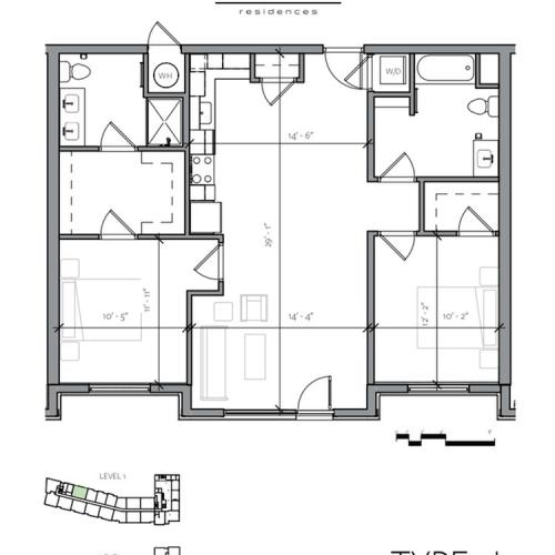 Floor Plan 13 | Apartments In Portsmouth NH | Veridian Residences