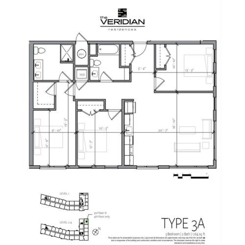 3 Bedroom Floor Plan | Apartments Near Portsmouth NH | Veridian Residences