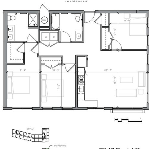 3 Bdrm Floor Plan | Portsmouth NH Luxury Apartments | Veridian Residences