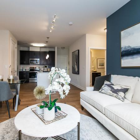 Spacious Living Room | Verde at Howard Square