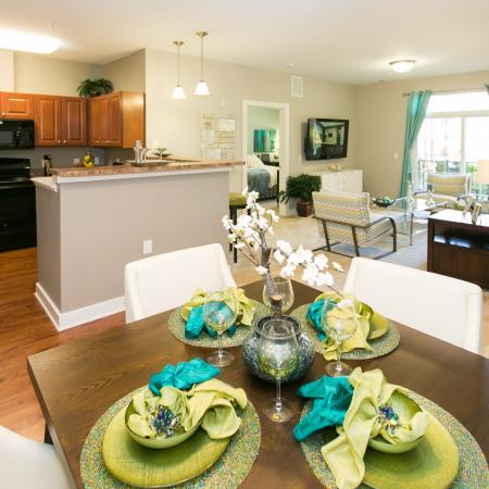 Spacious Dining Room | Apartment in Elkridge, MD | Verde at Howard Square