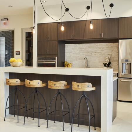 Mave clubroom kitchen, apartments for rent in Stoneham