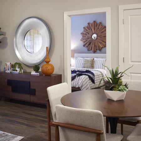 Mave living and dining room, luxury apartments in Stoneham MA