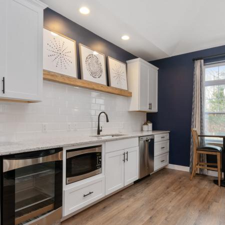 Clubroom kitchen apartments in Chelmsford MA