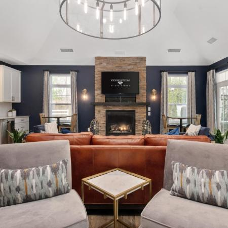 Luxury clubhouse at Kensington apartments in Chelmsford MA