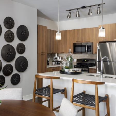 Mave gourmet kitchen, Stoneham apartments for rent