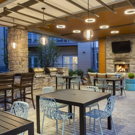 Mave resort-style outdoor lounge, apartments with pool in Stoneham