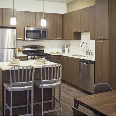 Gourmet kitchen espresso cabinets