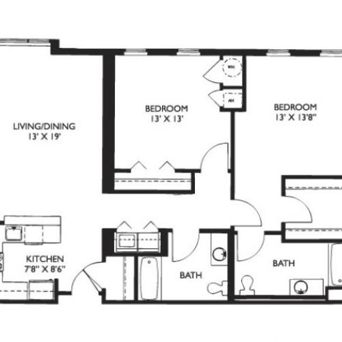 Floor Plan 27 | 2 Bedroom Apartments Malden Ma | Strata