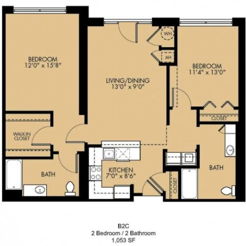 Floor Plan 14 | Luxury Apartments Malden Ma | Strata