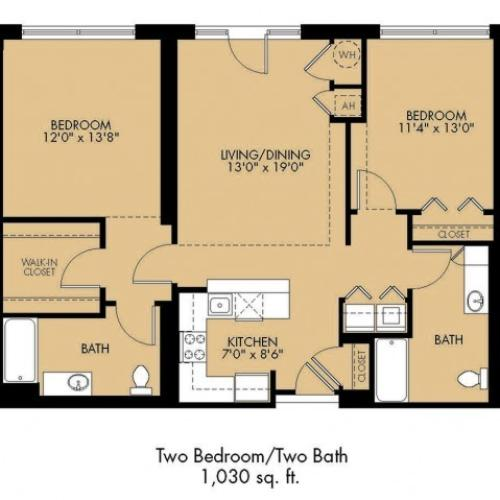 Floor Plan 22 | 2 Bedroom Apartments Malden Ma | Strata