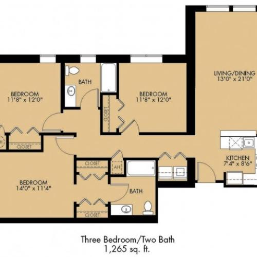 Floor Plan 34 | Luxury Apartments Malden Ma | Strata