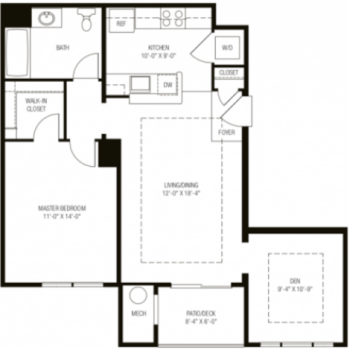 The Sweetbay Floor Plan at the Apartments at Charlestown Crossing