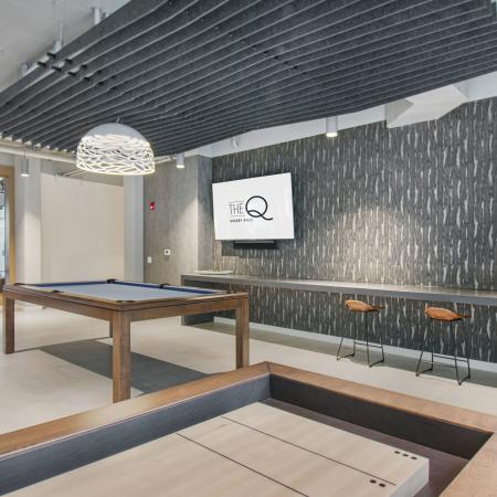 Pool table and shuffle board table | The Q