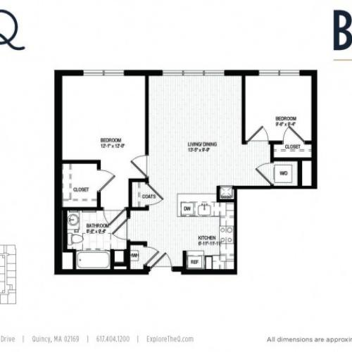 Two bedrooms / 1 Bath