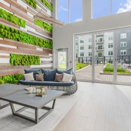 Atrium and Living Wall  | The Reserve at Burlington