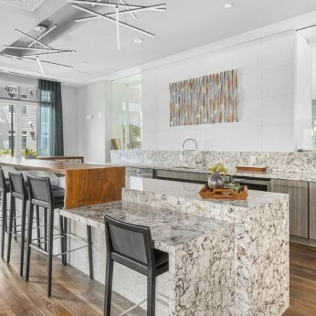 Community Room Kitchen | The Reserve at Burlington