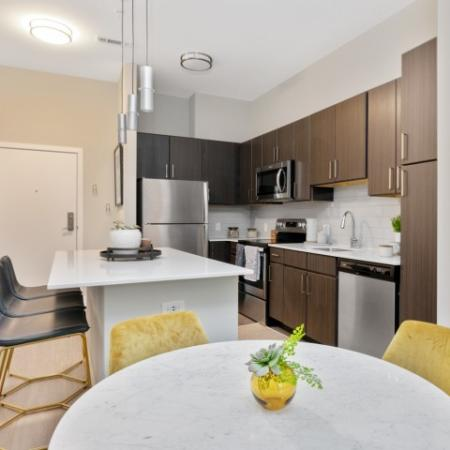 Kitchen and Dining Area | The Reserve at Burlington Apartments