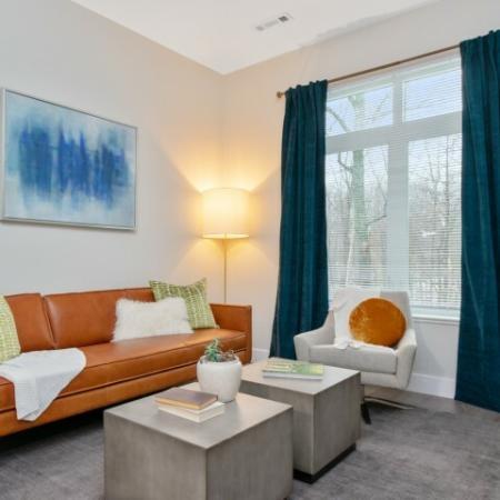Living Room | The Reserve at Burlington Apartments