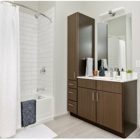 Bathroom | The Reserve at Burlington Apartments