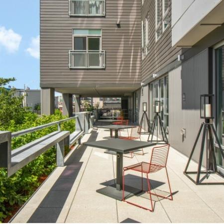 Patio | Apartments in Allston | TRAC 75