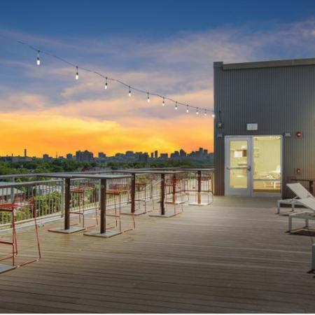 Roof Deck Sunset | Apartments in Allston | TRAC 75