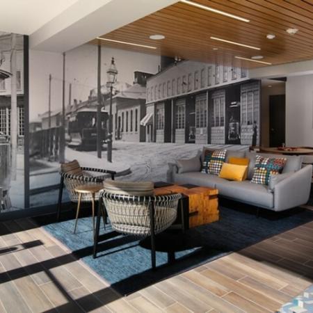 Interior Lobby | Allston Massachusetts Apartments for Rent | TRAC 75