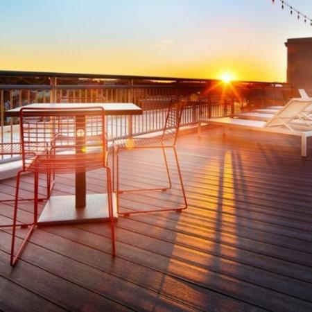 Community Sun Deck | Apartments in Allston | TRAC 75