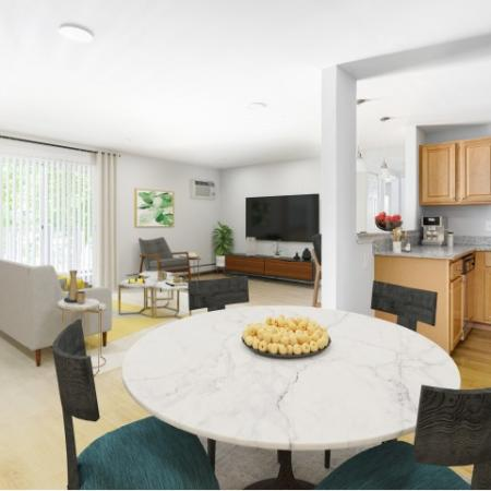 Living and dining room Waltham Overlook