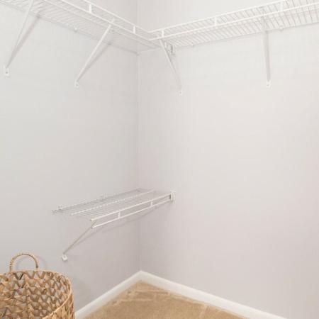 Walk in Closet at Crofton village apartments in Crofton MD | Millersville MD