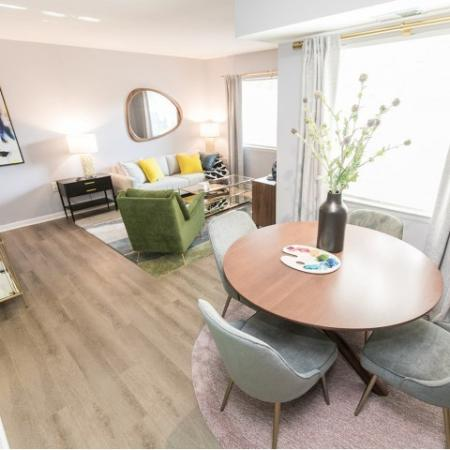 Luxury living and dining room | Crofton Village | apartments