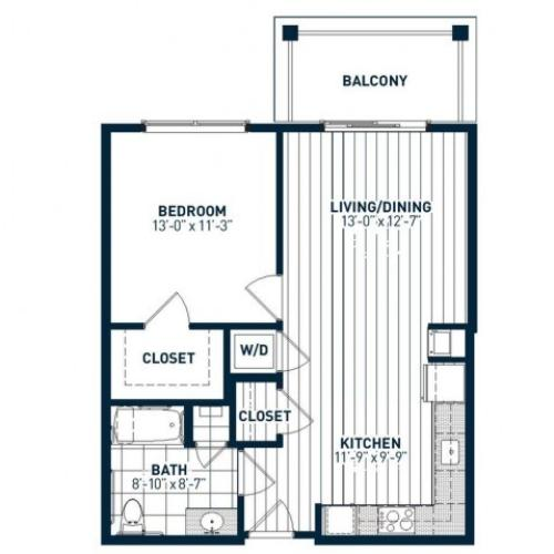 A1AH Floor Plan