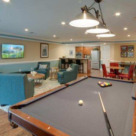 billiards in the community room