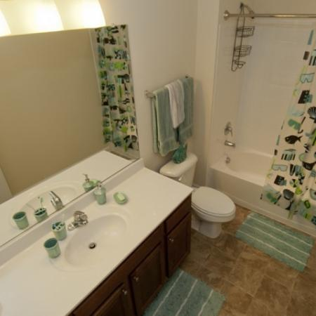 spacious and well-appointed bathrooms