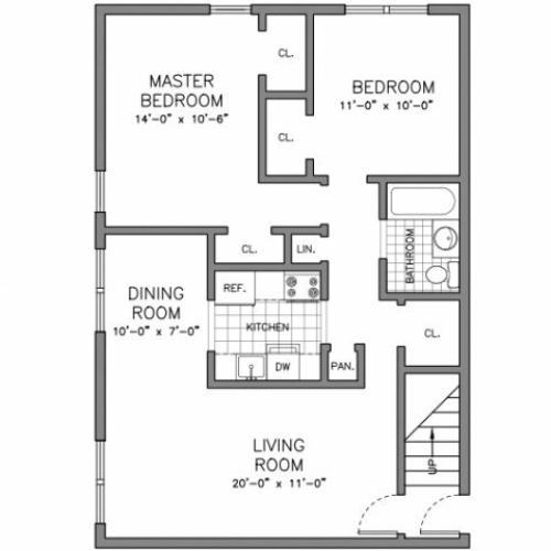 Saddlebrook Apartments: 1 Bed / 1 Bath Apartment In SADDLE BROOK NJ