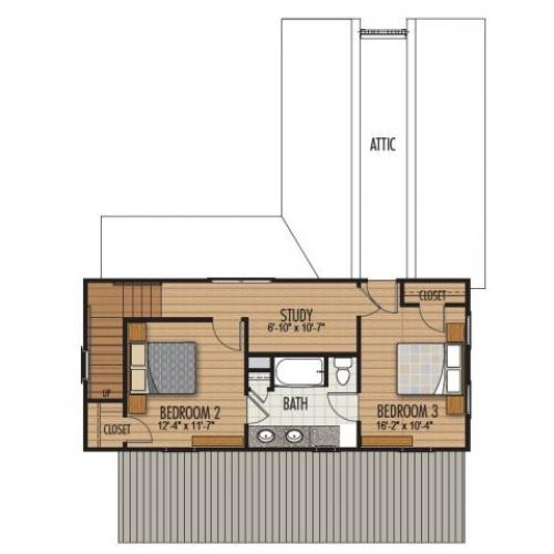 3 Bedroom Floor Plan | Homestead at Hartness
