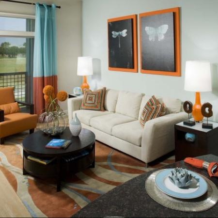 Spacious Living Room   Energy Corridor Luxury Apartments   Eclipse
