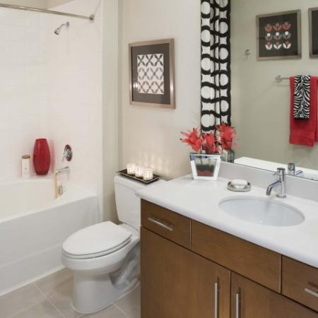 Ornate Bathroom | Energy Corridor Luxury Apartments | Eclipse