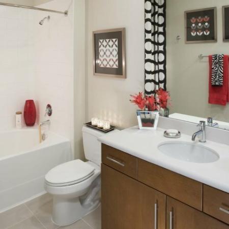 Ornate Bathroom   Energy Corridor Luxury Apartments   Eclipse