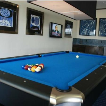 Resident Pool Table   Energy Corridor Luxury Apartments   Eclipse