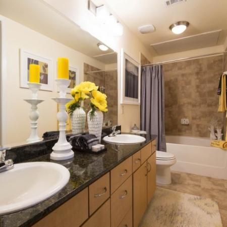 Spacious Master Bathroom | Apartments In Houston Energy Corridor Area | Briar Forest Lofts