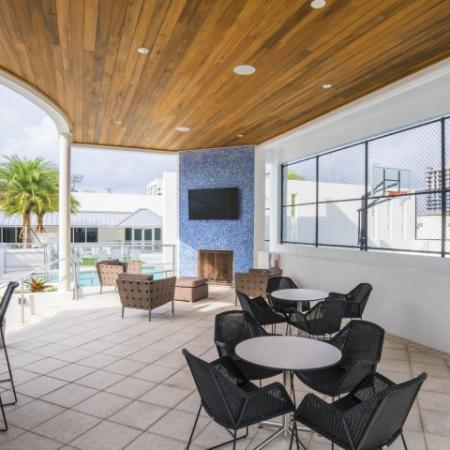 Covered Pavilion | Brickell Miami Apartments For Rent | SOMA at Brickell