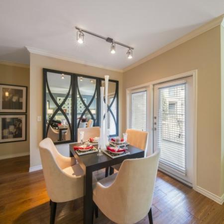 Luxurious Dining Room | Dallas Knox Henderson Apartments | Fitzhugh Urban Flats
