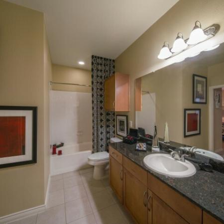 Spacious Master Bathroom | Apartments In Knox Henderson | Fitzhugh Urban Flats