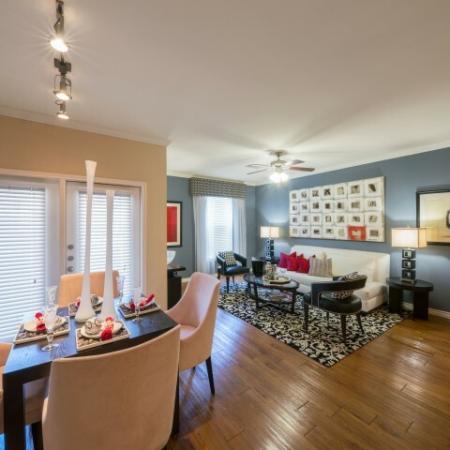 Spacious Living Area | Apartments In Knox Henderson | Fitzhugh Urban Flats