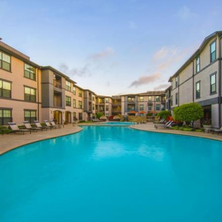 Floating in the Pool | Knox Henderson Dallas Apartments | Fitzhugh Urban Flats