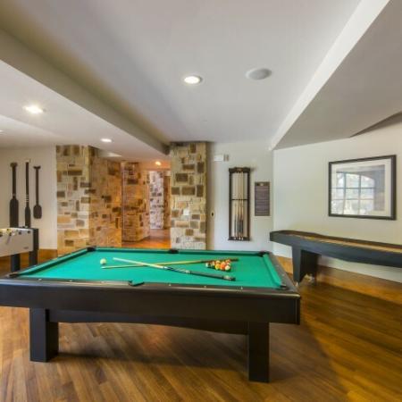 Community Game Room | Dallas Apartments In Knox Henderson | Fitzhugh Urban Flats