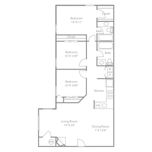 Dogwood Creek Apartments: 1 Bed / 1 Bath Apartment In Collierville TN