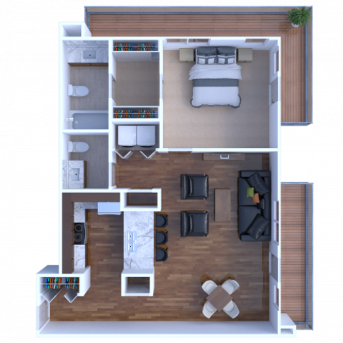 1B1 Lakefront Floorplan